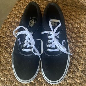 Men's Black Classic Vans Shoes sz 9